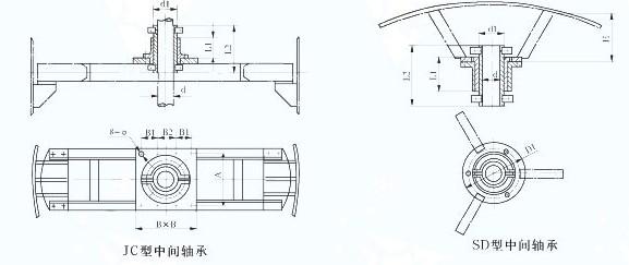 中间轴承3